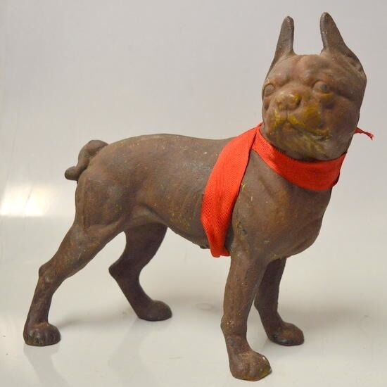 Vintage Cast Iron Boston Terrier Bull Dog Door Stop Ebay