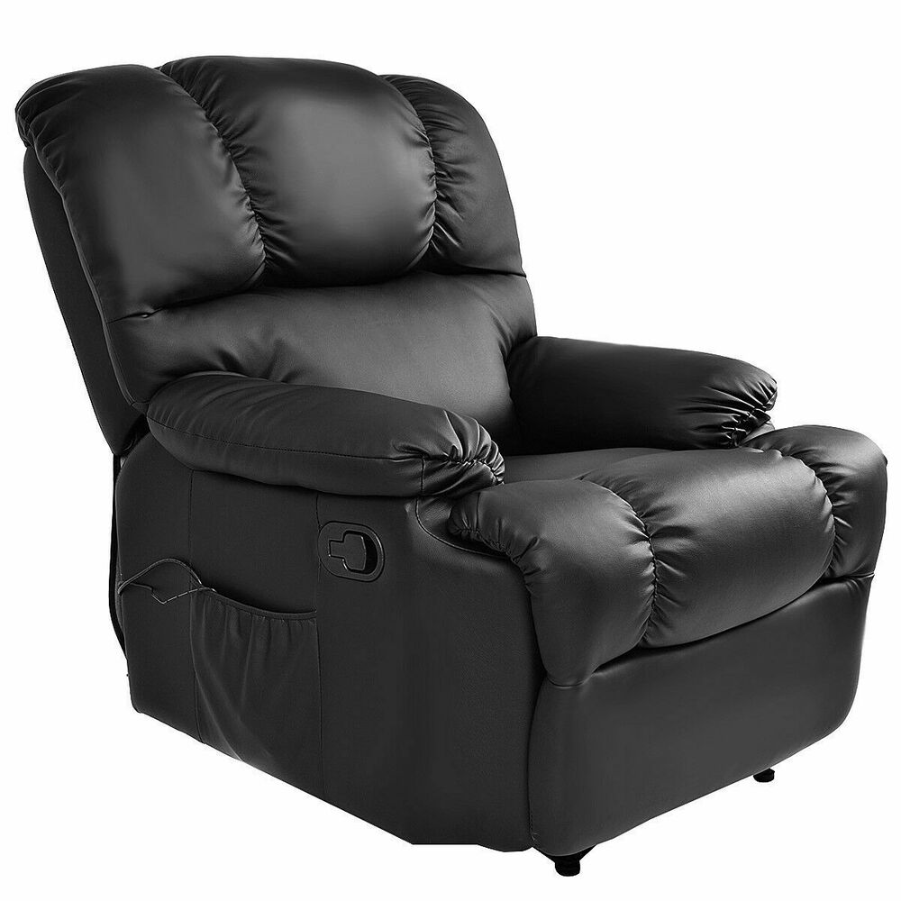 Recliner Massage Sofa Chair Deluxe Ergonomic Lounge Couch