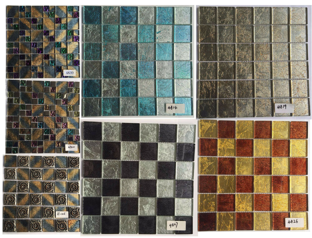 Mosaic tiles backsplash