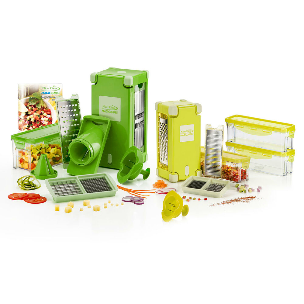 genius nicer dicer magic cube combi set 25tlg nouveau ebay. Black Bedroom Furniture Sets. Home Design Ideas