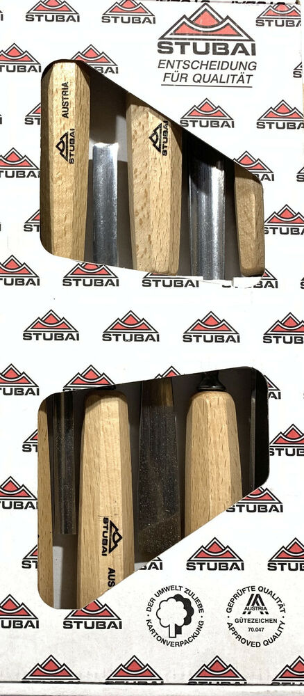 Wood Carving Chisels - Stubai 55 Series - Set of 6 - two ...