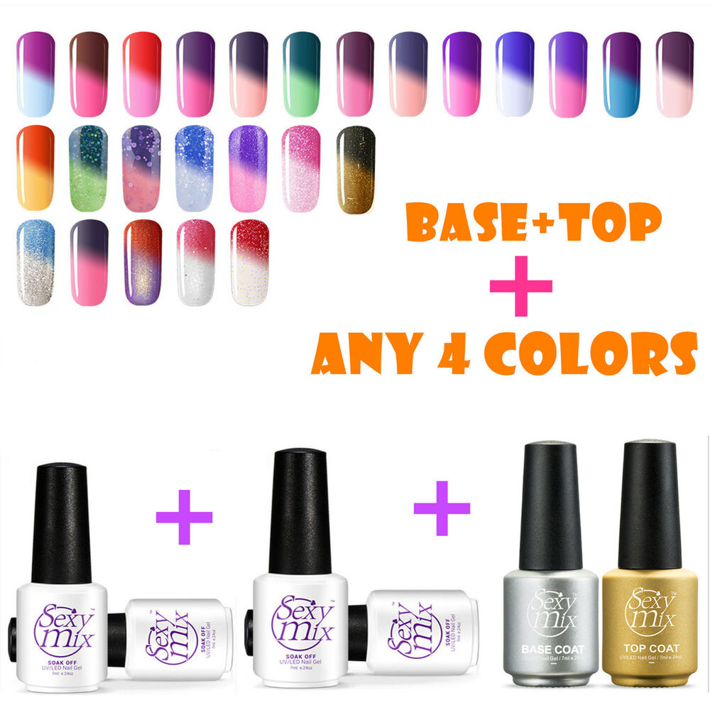 Color Changing Gel Nail Polish: Sexymix Temperature Color Changing UV Led Nail Gel Polish