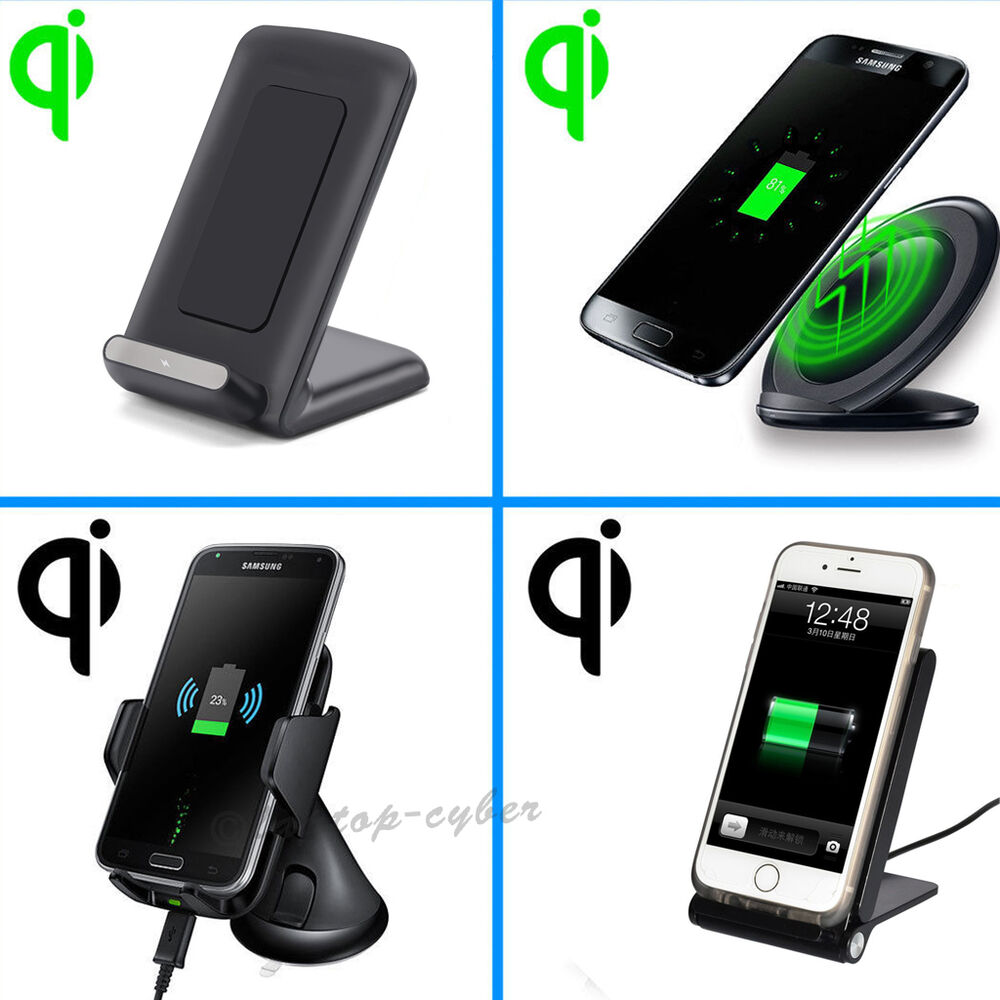 Qi Wireless Charging Charger Dock Stand Holder Station