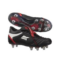 KooGa FTX Mid Cut Hard Toe Rugby Boots Adult UK Size 8 31204 Black Red White 42