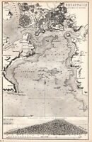 1880 PRINT ~ PLYMOUTH SOUND AREA & BREAKWATER SECTIONAL