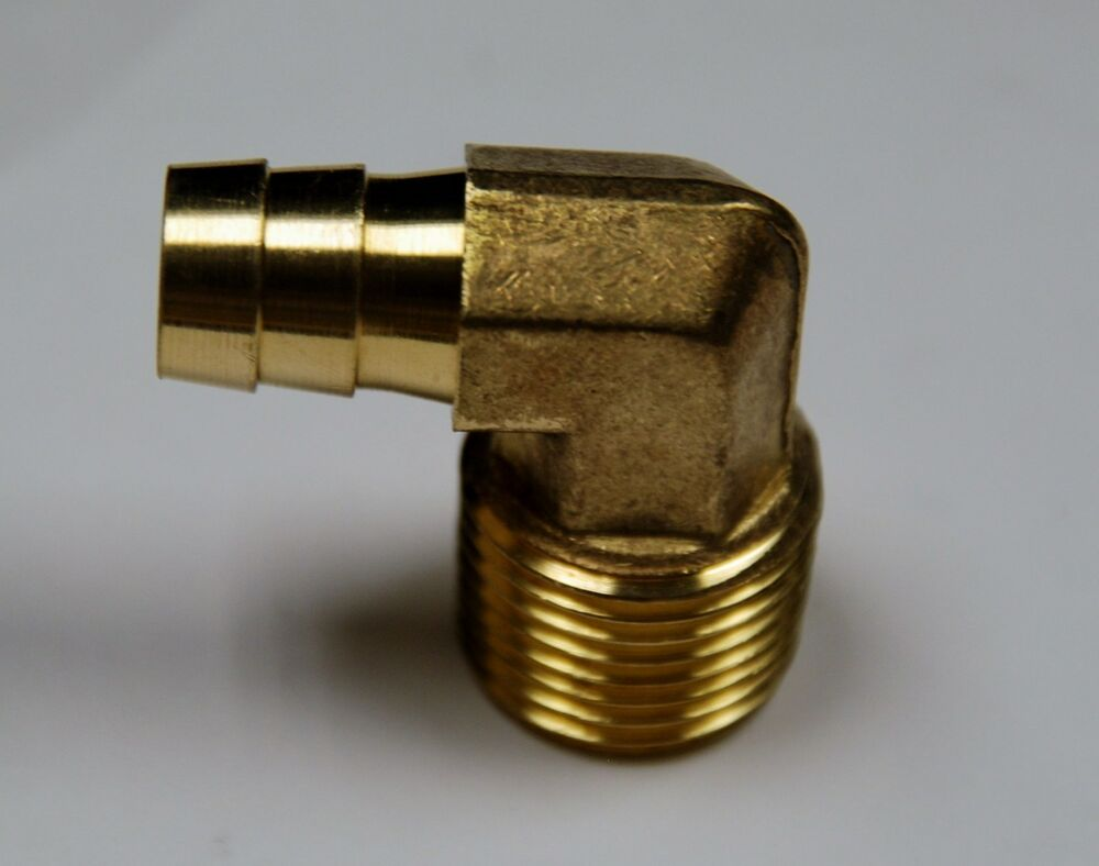 Brass fittings ° elbow hose barb male pipe