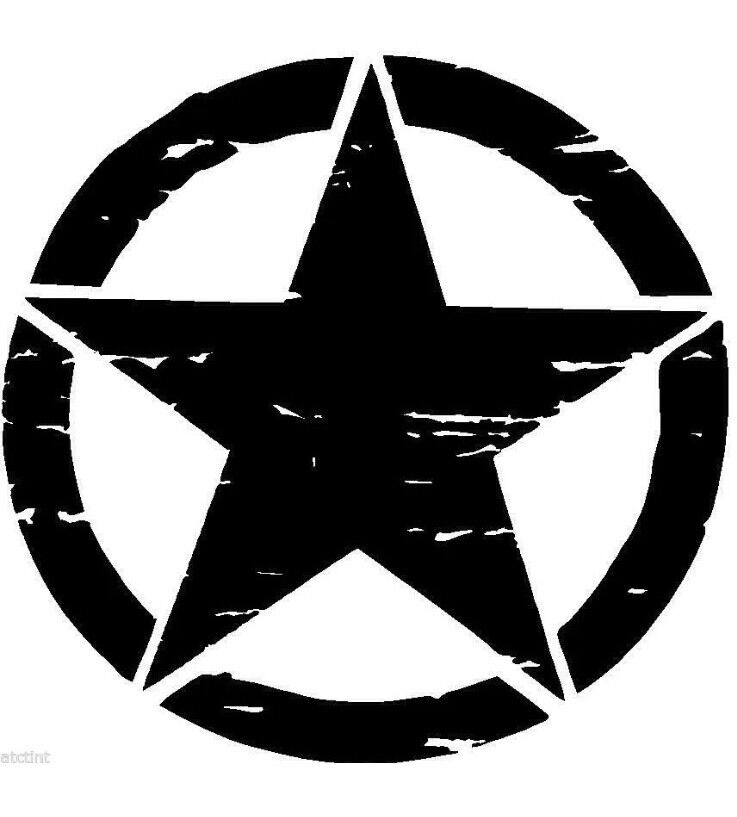 Jeep military distressed star black ops oscar mike