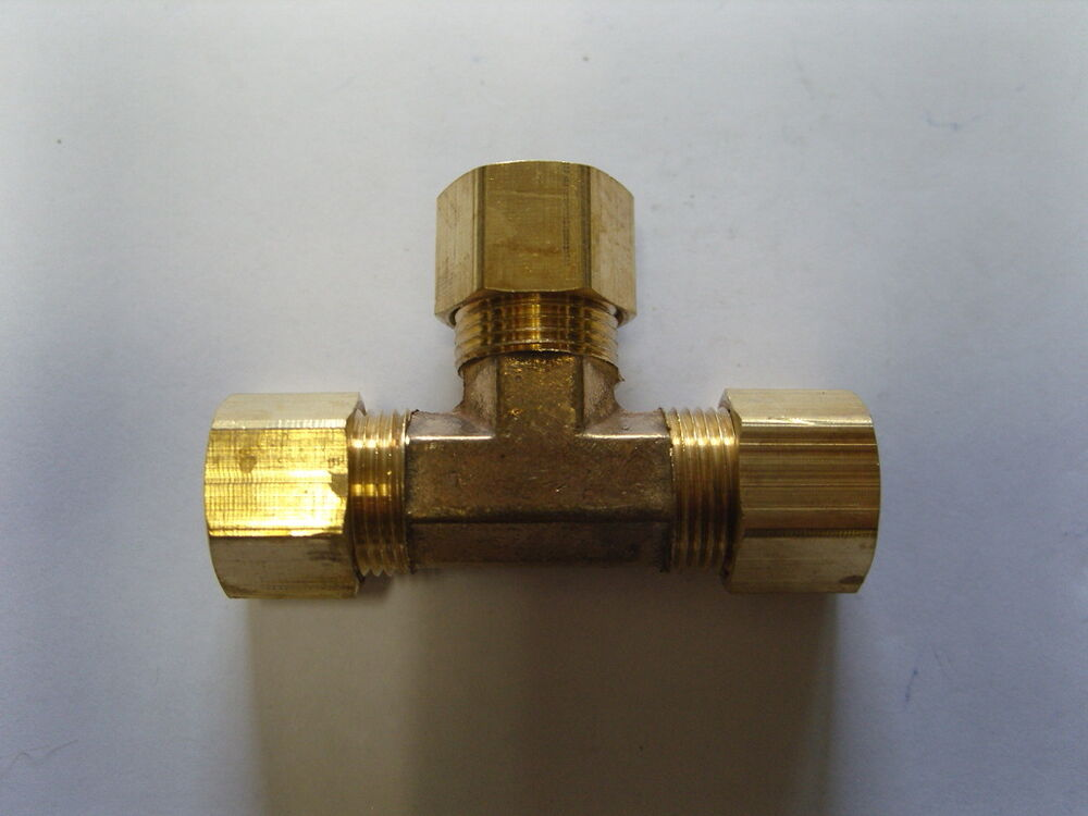 Brass fitting compression tee tube od quot qty ebay