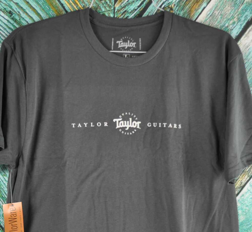 official new taylor guitars roadie t shirt charcoal gray ultra soft tee ebay. Black Bedroom Furniture Sets. Home Design Ideas