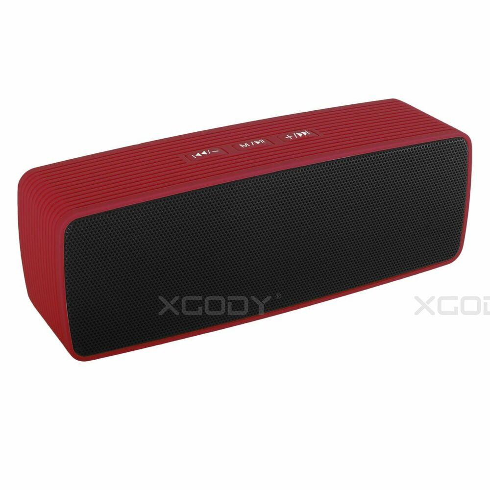 portable indoor outdoor wireless bluetooth stereo speaker for smartphone pc ebay. Black Bedroom Furniture Sets. Home Design Ideas