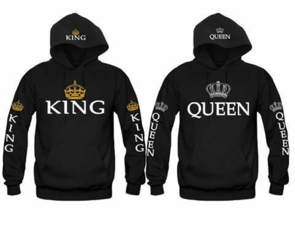 new couple hoodie sweater king and queen love matching. Black Bedroom Furniture Sets. Home Design Ideas