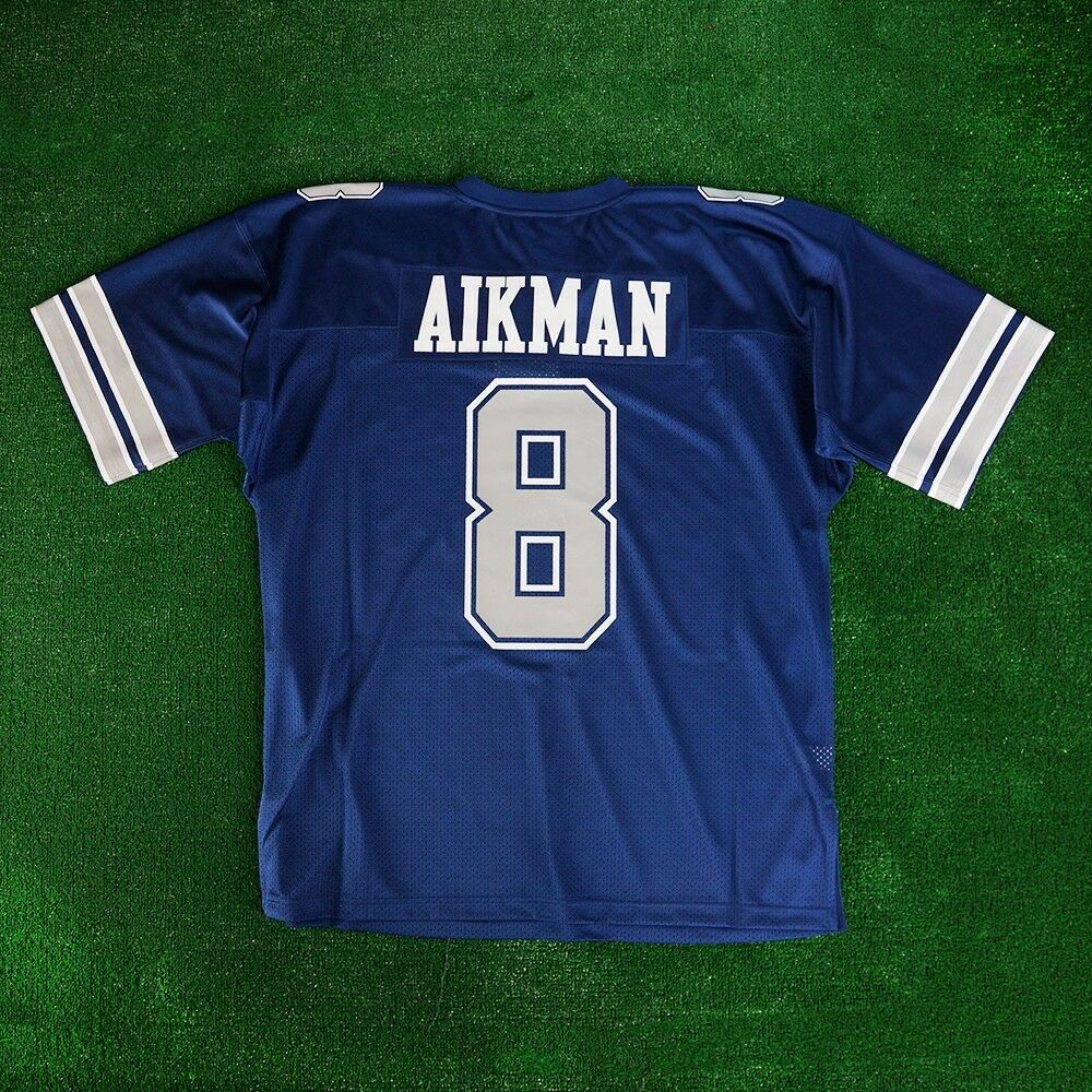 62e15cfdd Details about 1992 Troy Aikman Dallas Cowboys Mitchell   Ness Navy  Authentic Jersey Men s