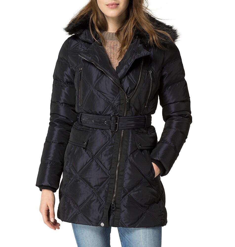 tommy hilfiger women quilted down puffer winter coat. Black Bedroom Furniture Sets. Home Design Ideas
