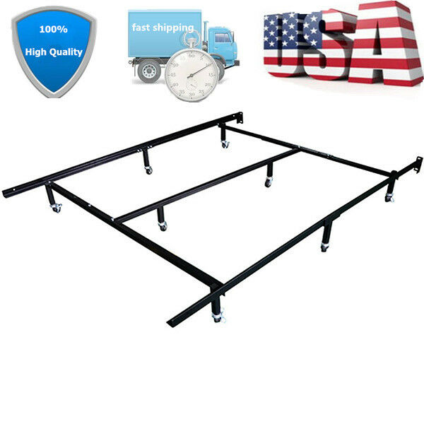 Adjustable Full Queen Bed Frame : Metal bed frame adjustable full queen king size center