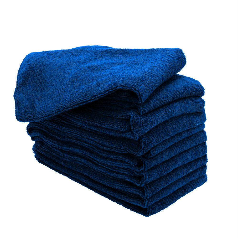Yellow Microfiber Cloths Costco: 1 NAVY MICROFIBER TOWELS NEW CLEANING CLOTHS BULK 16X16