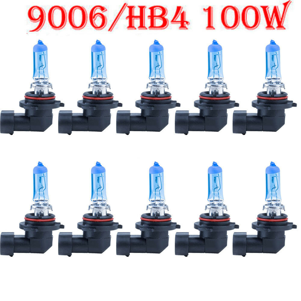 10x9006 hb4 6000k 100w xenon gas halogen headlight super. Black Bedroom Furniture Sets. Home Design Ideas