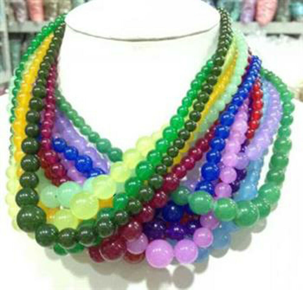 Necklace Beads: Wholesale 6-14mm Multicolor Gemstone Beads Jewelry