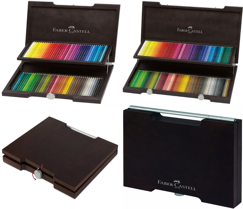faber castell polychromos colored pencils set 12 24 36 60 72 120 wood case ebay. Black Bedroom Furniture Sets. Home Design Ideas