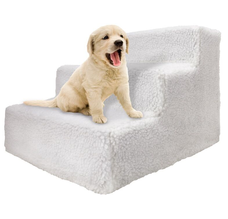 Folding Stairs For Dogs >> Doggie Steps For Small Dogs, Medium, Large Pet Bed Stairs Folding Ladder w Cover | eBay