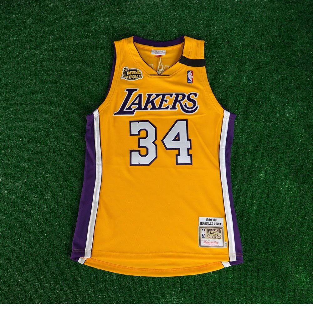 773d4fe9 1999-00 Shaquille O'Neal LA Lakers MITCHELL & NESS Authentic Gold Jersey  Men's | eBay