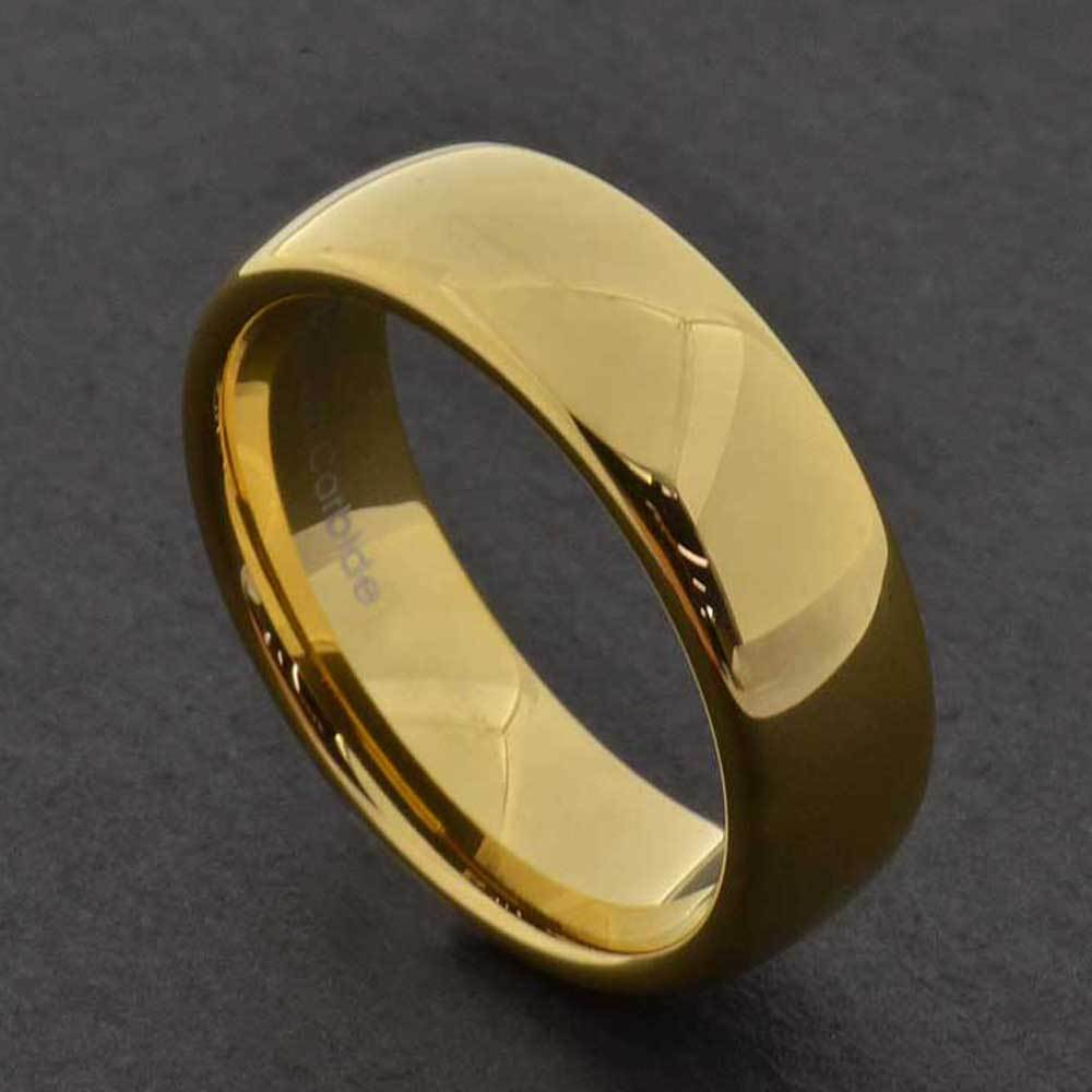 7mm Gold Tungsten Mens Wedding Band Ring Sz7 13