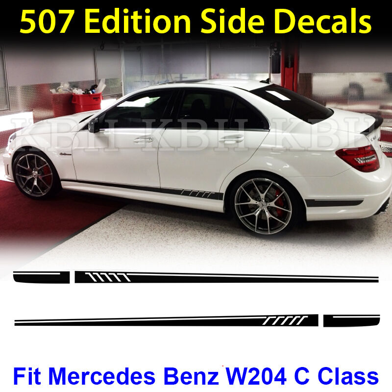 Amg edition c63 507 side stripe decals stickers mercedes for Mercedes benz decal