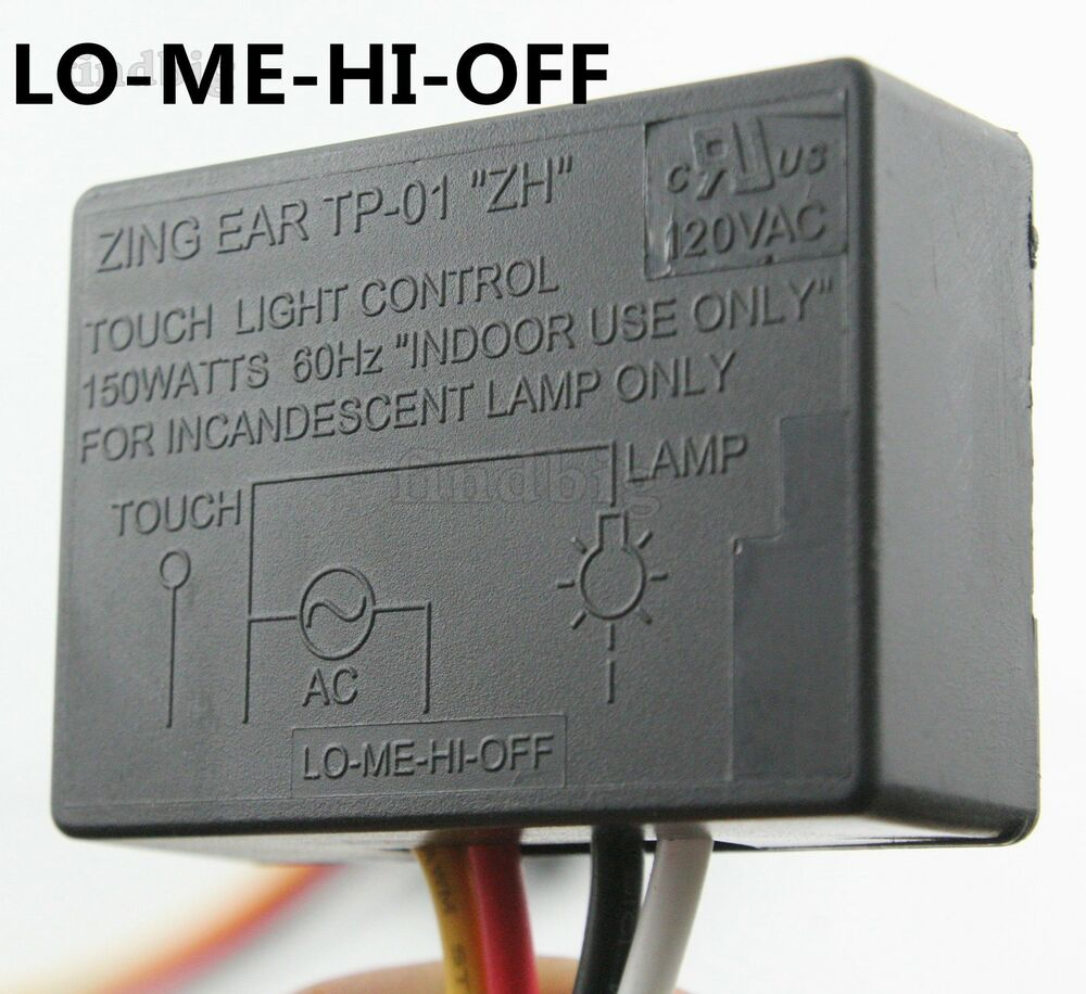 zing ear tp 01 tp 01f zh touch light dimmer switch table lamp module sensor ebay. Black Bedroom Furniture Sets. Home Design Ideas