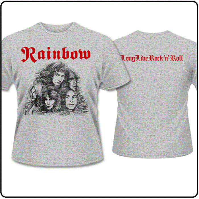 daffbe190 Details about OFFICIAL LICENSED - RAINBOW - LONG LIVE ROCK & ROLL T SHIRT  ROCK BLACKMORE
