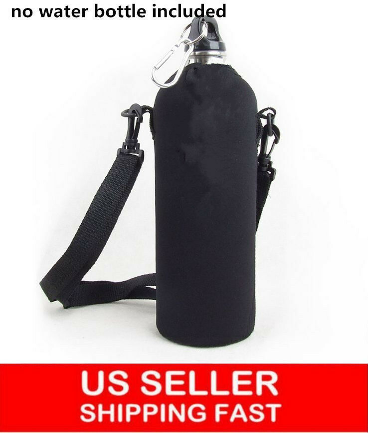 Water Bottle Strap: `Outdoor 750ML Water Bottle Carrier Insulated Cover Bag