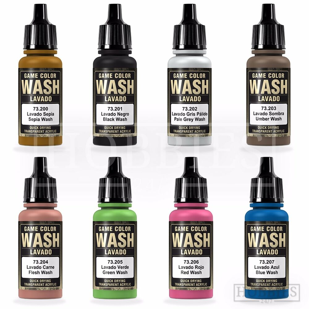 Vallejo paints ebay vallejo game colour wash model washes paints fantasy airbrush colours spray 17ml geenschuldenfo Images
