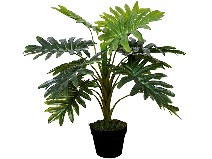 LARGE FAUX MONSTERA TREE PLANT IN POT ARTIFICIAL FLOWER