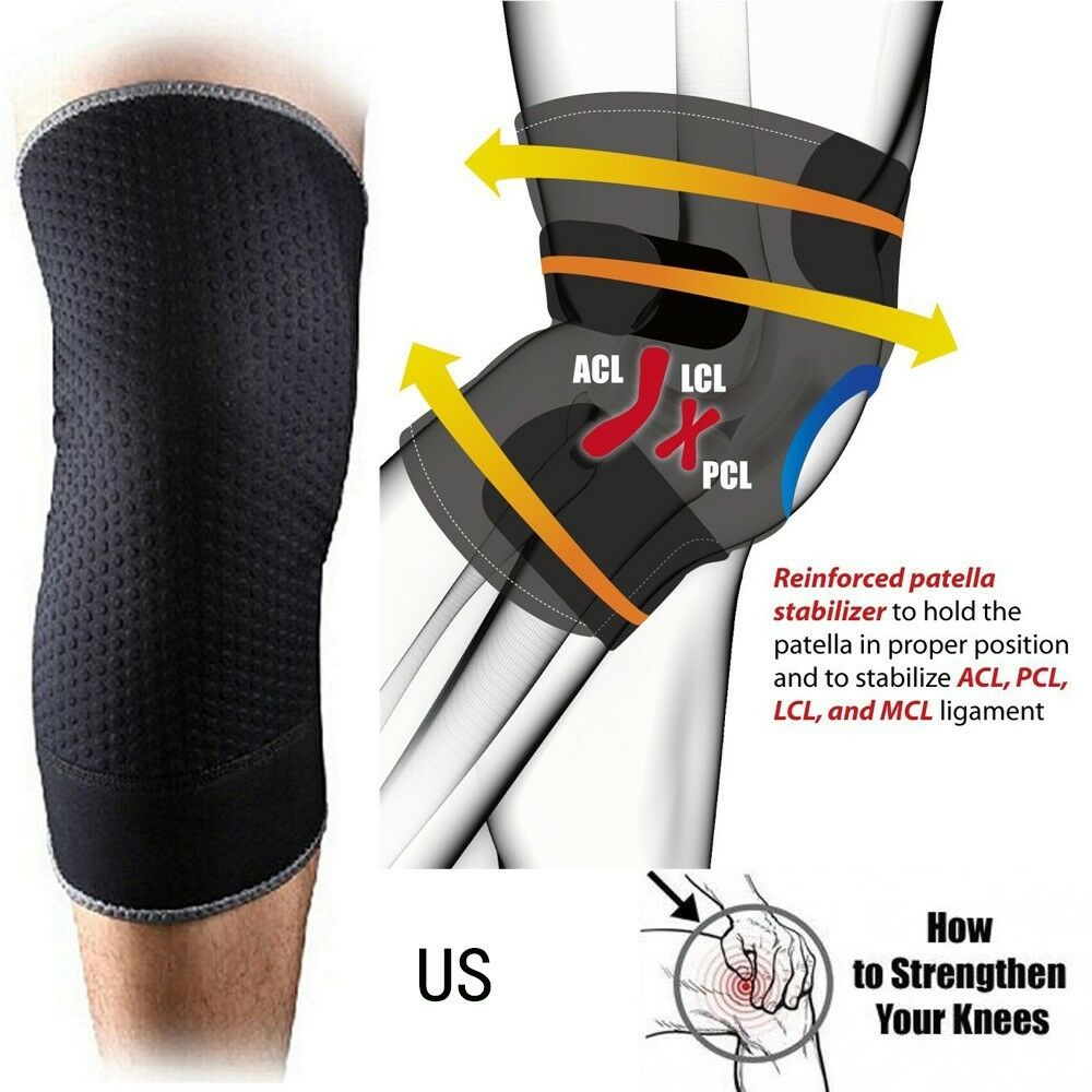 Knee Recovery Sleeve Copper Compression Sports Fit Support ...