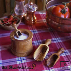 Herb Shovel Measuring Spoon Gewürzschippe Spices from Olive Wood Wood
