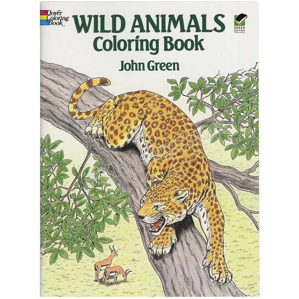 Coloring Books For Adults Kids Wild Animals Art Design