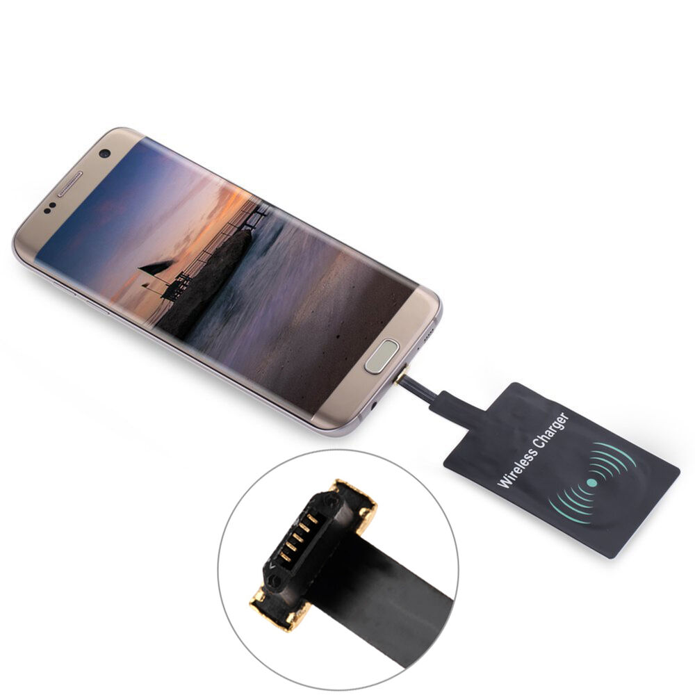 universal qi wireless charger receiver charging adapter pad coil for android lg ebay. Black Bedroom Furniture Sets. Home Design Ideas