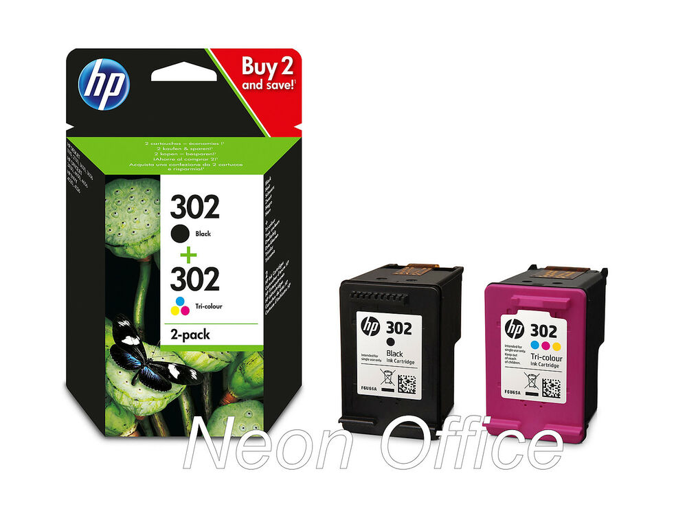 hp 302 black colour ink cartridge combo pack for deskjet 3630 printer ebay. Black Bedroom Furniture Sets. Home Design Ideas