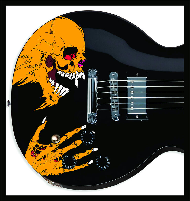 Sticker For Guitars : pushead style custom skull sticker decal skin for electric guitar metallica ebay ~ Hamham.info Haus und Dekorationen