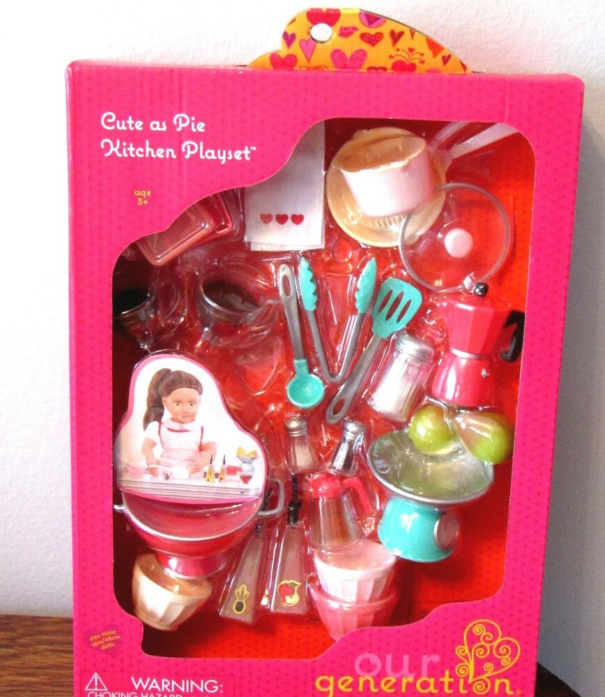 Our Generation Kitchen Set: American Our Generation CUTE AS PIE Kitchen Playset Food