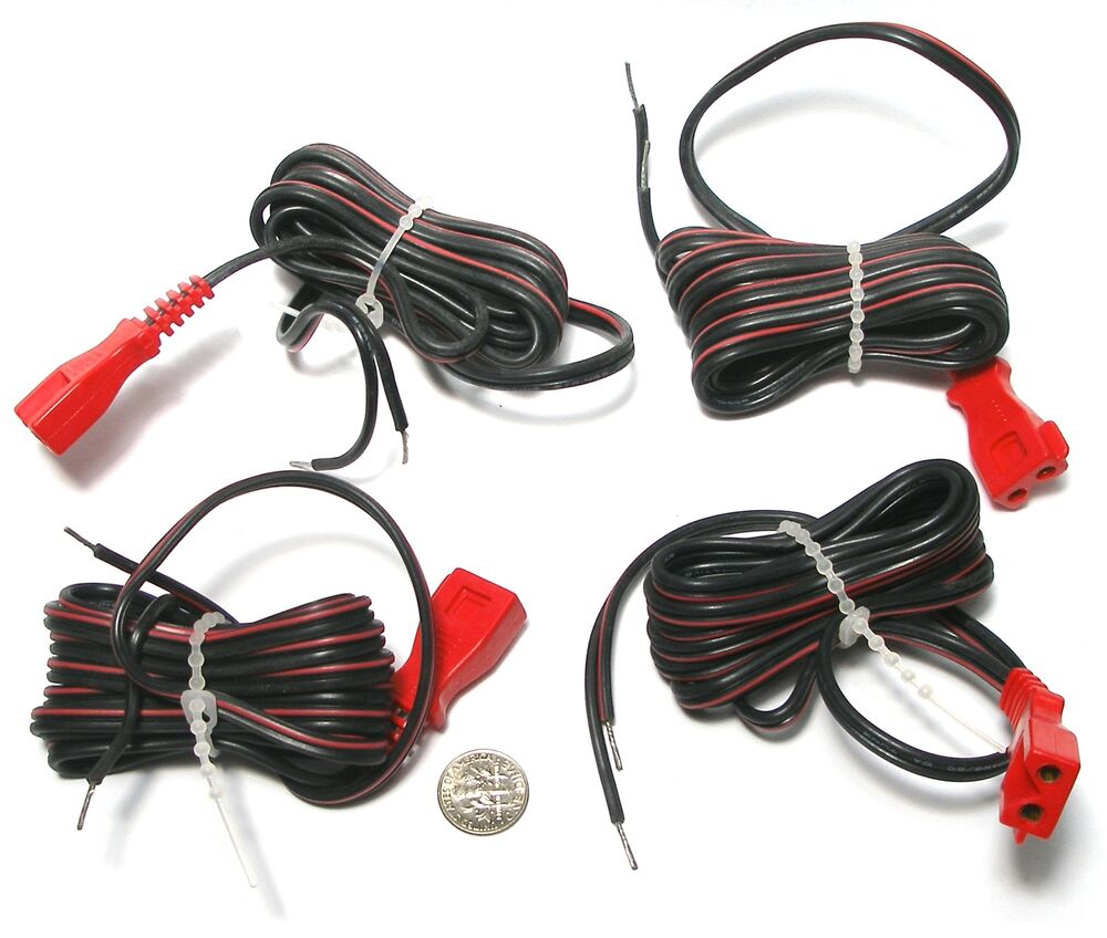 4pc Vintage TYCO Slot Car Track Distribute POWER TAP CORDS