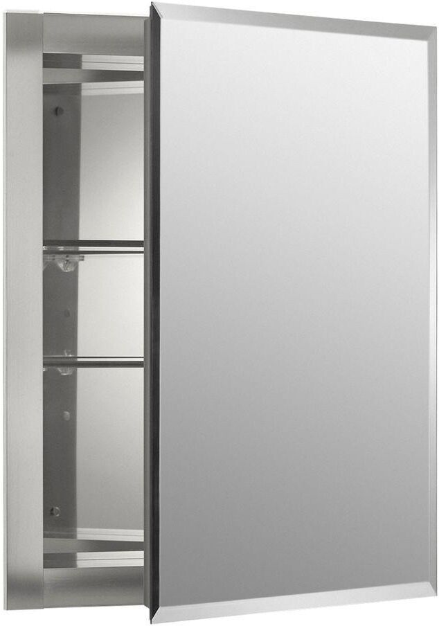 recessed bathroom medicine cabinets with mirrors kohler aluminum recessed frameless bathroom mirrored 25699