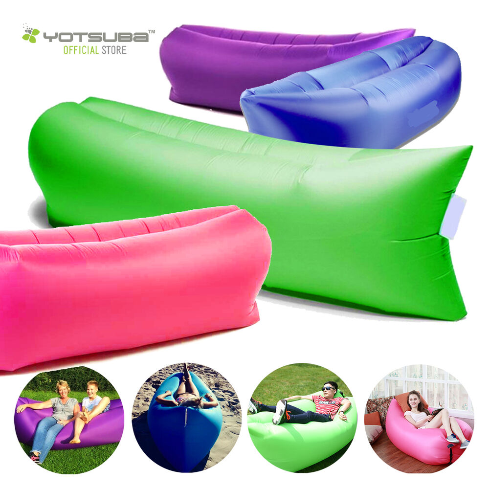 new inflatable air bag sofa lounge sleeping bag camping. Black Bedroom Furniture Sets. Home Design Ideas