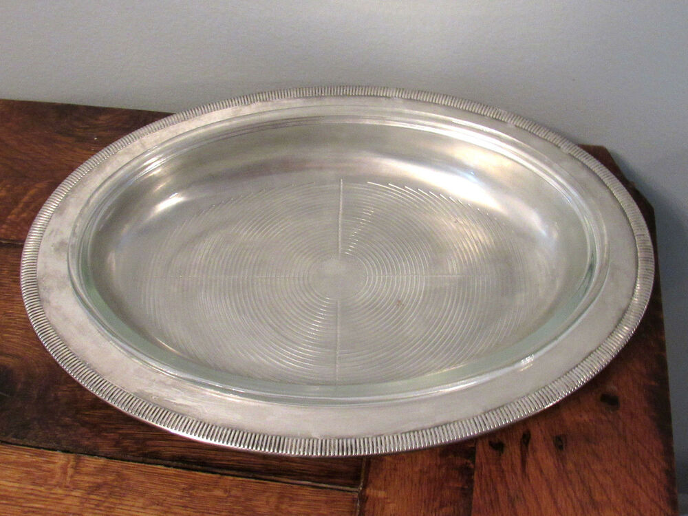 Newport Silverplate By Gorham Oval Serving Platter With