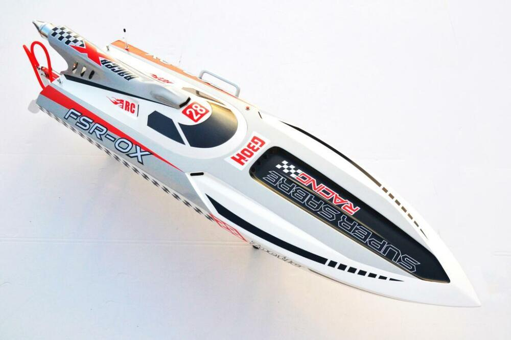 G30h 30cc engine gas rc racing speed boat fiber glass vee for Gas rc boat motors