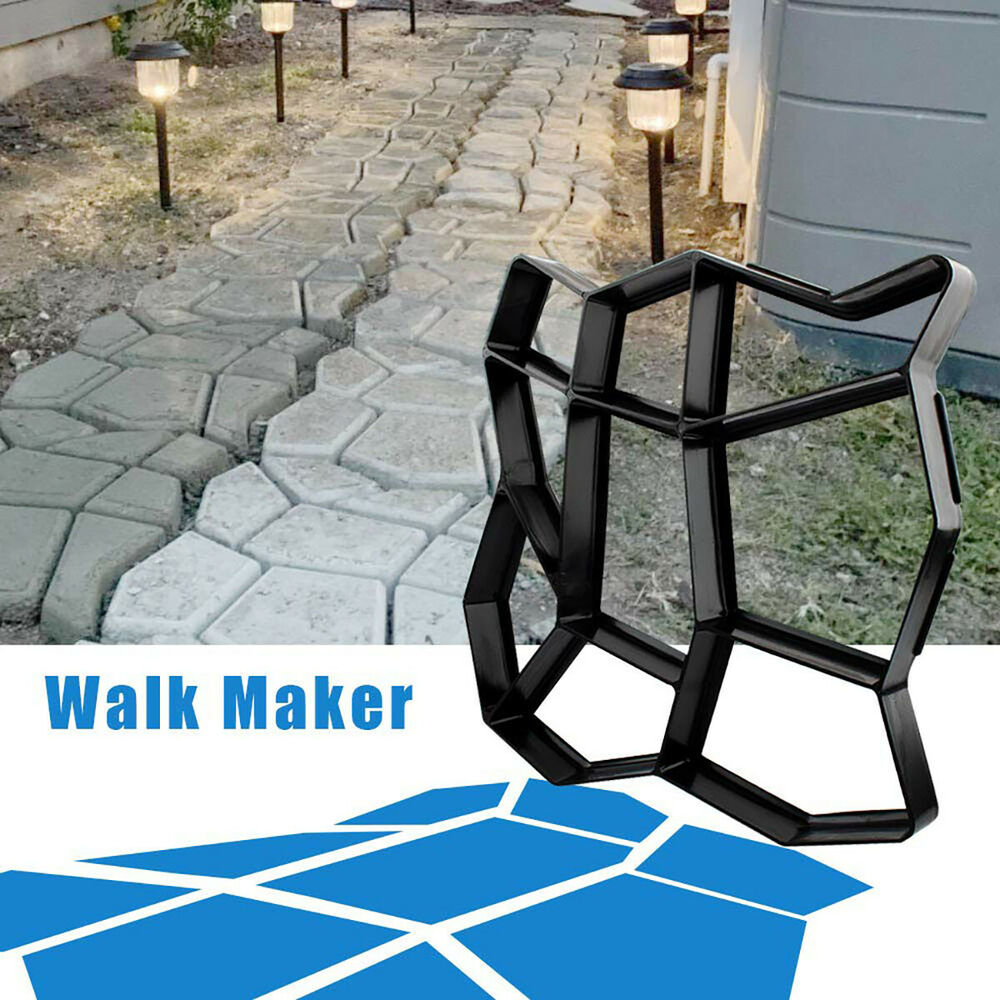 Diy garden path maker mold paving cement brick mould for Jardin decor 37