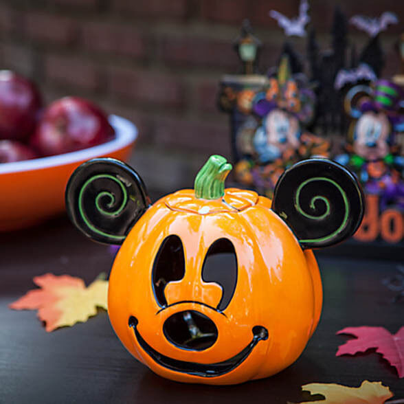 DISNEY Mickey Mouse PUMPKIN Jack O'Lantern CANDLE HOLDER