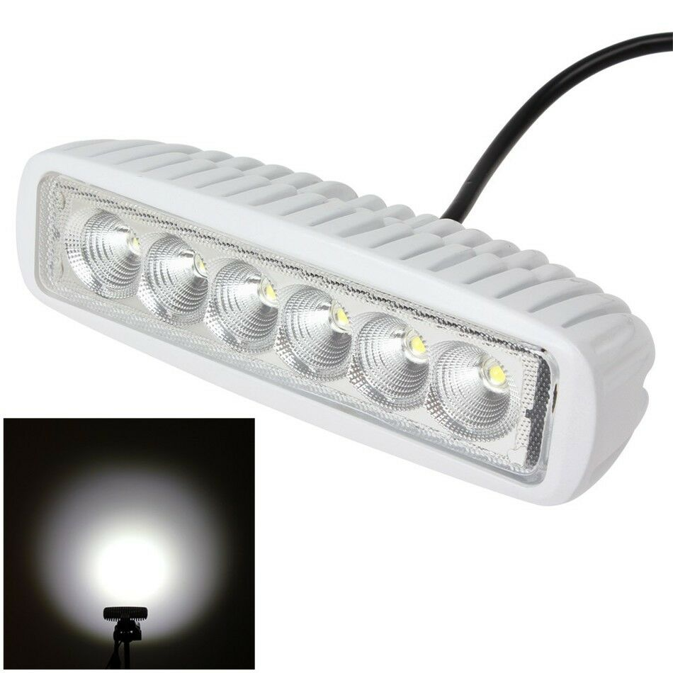 waterproof boat led t top 12v white marine spot lights bar set of 2 18w ebay. Black Bedroom Furniture Sets. Home Design Ideas