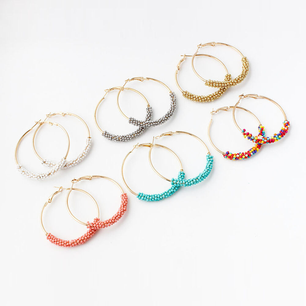 Fashion Women Bohemia Big Circle Large Round Hoop Dangle ...