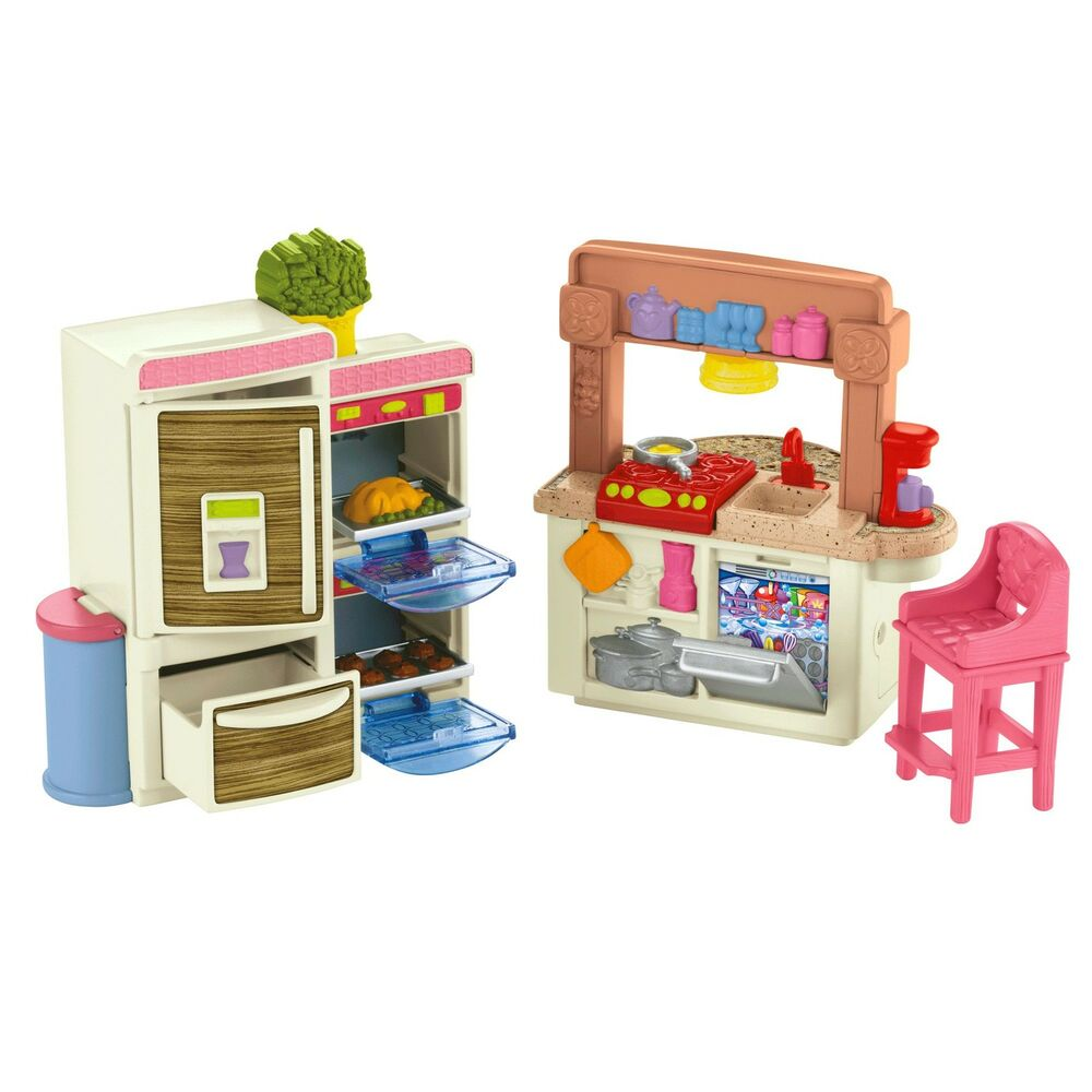 fisher price loving family kitchen ebay. Black Bedroom Furniture Sets. Home Design Ideas