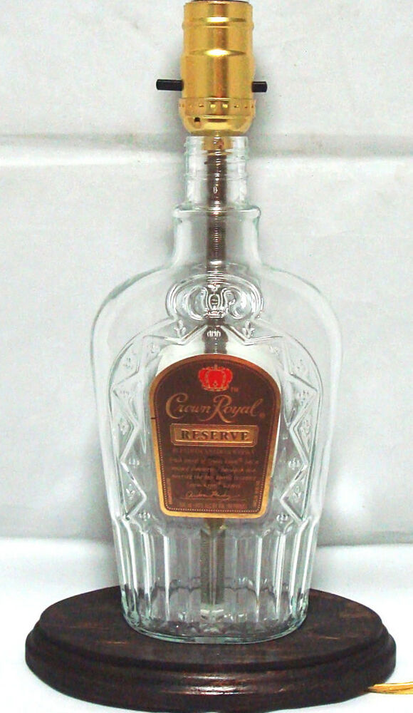 Crown Royal Special Reserve Whiskey Bottle Table Lamp