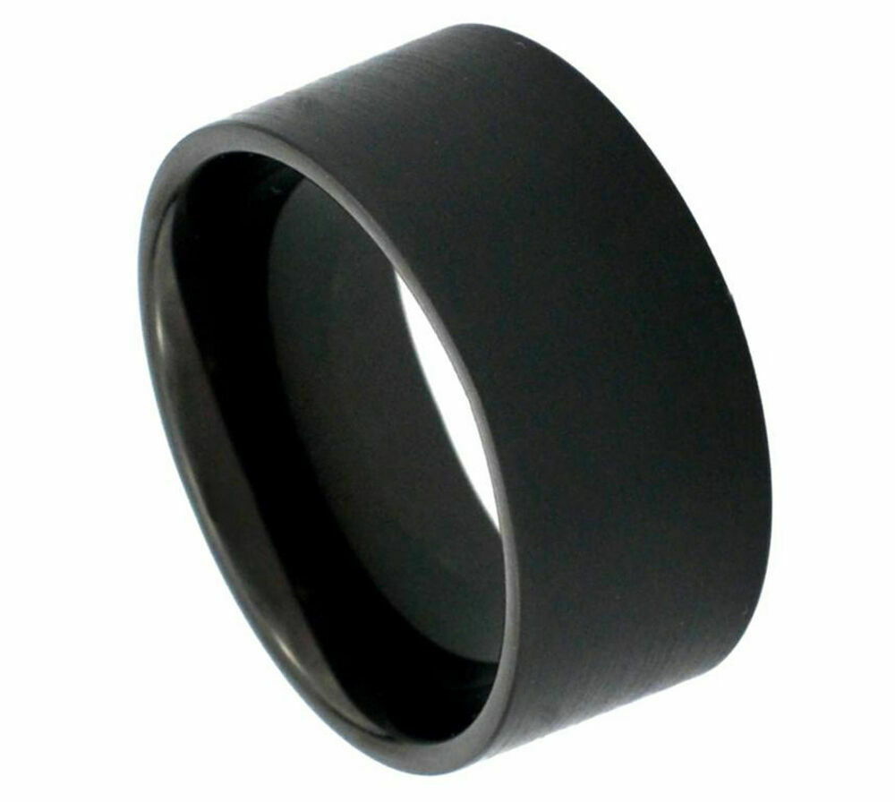 12mm s tungsten carbide black matte finishedc pipe cut